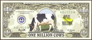 COWS Fantasy Note 💶🐮🐄 One Million 🐄🐮🐄 COWS 🐄🐮💶 - Busy Bee Emporium