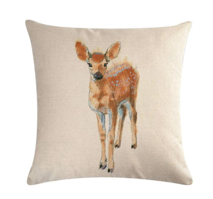 🦌DEER PILLOW COVER, Package:1 PCS Cushion Cover - Busy Bee Emporium
