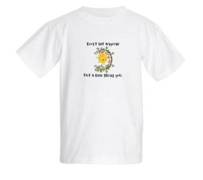 DON'T LET ANYONE BUT A BEE STING YOU - Kid's Basic T-shirts - Busy Bee Emporium