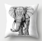 🐘  ELEPHANT BLACK AND WHITE PILLOW COVER - Package:1 PCS Cushion Cover 🐘 - Busy Bee Emporium