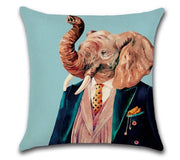 🐘  ELEPHANT WITH TIE PILLOW COVER - Package:1 PCS Cushion Cover 🐘 - Busy Bee Emporium