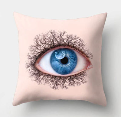 👁‍🗨 BLUE EYE PILLOW COVER - Package:1 PCS Cushion Cover 👁‍🗨 - Busy Bee Emporium