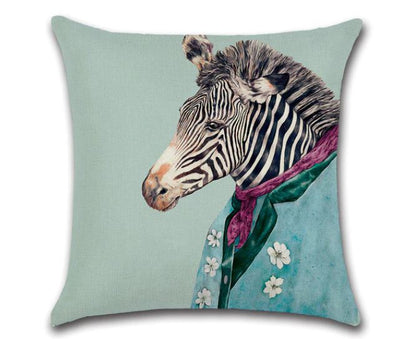 🦓 FANCY ZEBRA PILLOW COVER, Package:1 PCS Cushion Cover🦓 - Busy Bee Emporium