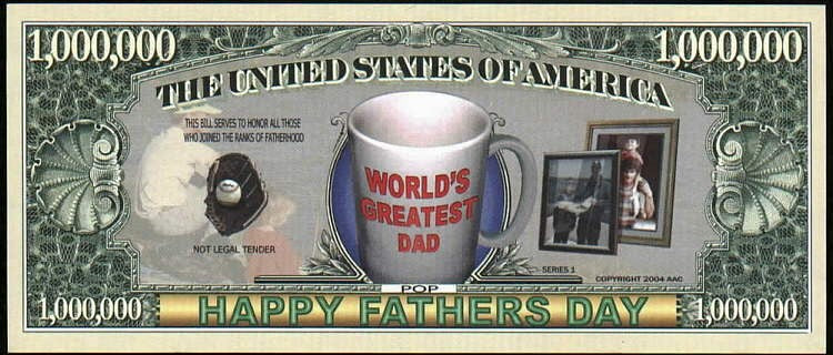 HAPPY FATHER'S DAY 👨 Million Fantasy Bank Note 💵 World's Greatest 👨