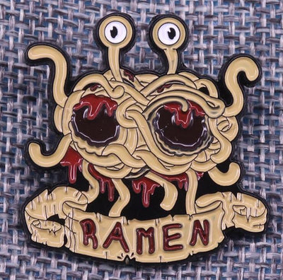 Flying Spaghetti Monster Pin 🍝