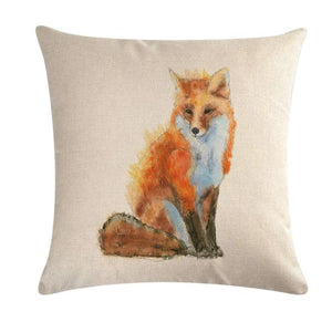 🦊 FOX PILLOW COVER, Package:1 PCS Cushion Cover - Busy Bee Emporium