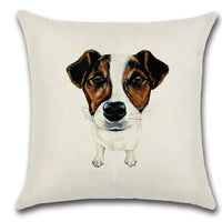 🐶  Jack Russell Terrier PILLOW COVER, Package:1 PCS Cushion Cover 🐶 - Busy Bee Emporium