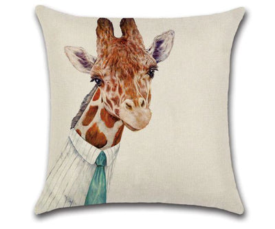 🦒GIRAFFE WITH TIE PILLOW COVER, Package:1 PCS Cushion Cover🦒 - Busy Bee Emporium