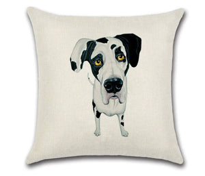 🐶  GREAT DANE PILLOW COVER, Package:1 PCS Cushion Cover 🐶 - Busy Bee Emporium