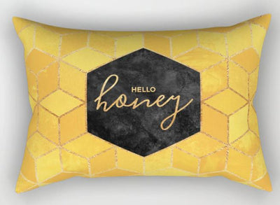 🍯🐝 HELLO HONEY PILLOWCASE, SMALL PILLOW Cover 50*30cm🐝🍯 - Busy Bee Emporium