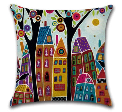 🏠 RETRO HOME PILLOW COVER - Package:1 PCS Cushion Cover 🏠