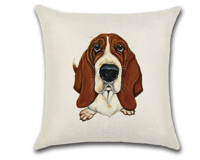 🐶BASSET HOUND PILLOW COVER, Package:1 PCS Cushion Cover🐶 - Busy Bee Emporium