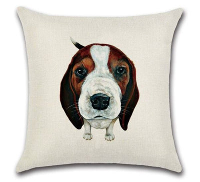 🐶HOUND PILLOW COVER, Package:1 PCS Cushion Cover