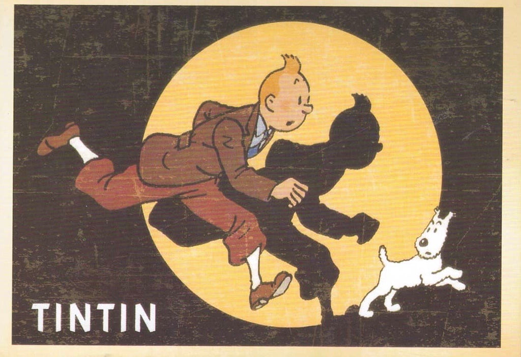 TIN TIN: COLLECTIBLE 'CARTOON' POSTCARD - Busy Bee Emporium