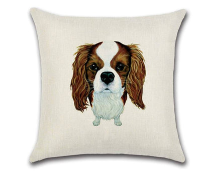 🐶CAVALIER KING CHARLES PILLOW COVER, Package:1 PCS Cushion Cover🐶 - Busy Bee Emporium