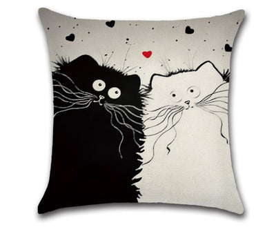 😻 CAT LOVERS PILLOW COVER - Package:1 PCS Cushion Cover 😻 - Busy Bee Emporium