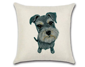 🐶SCHNAUZER PILLOW COVER - Package:1 PCS Cushion Cover 🐶 - Busy Bee Emporium