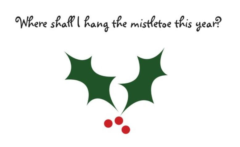 HANG THE MISTLETOE 🎅🎅 A Creation By 🐝 Bee's Postcards 🐝 - Busy Bee Emporium
