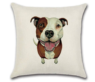 🐶PIT-BULL PILLOW COVER, Package:1 PCS Cushion Cover🐶 - Busy Bee Emporium