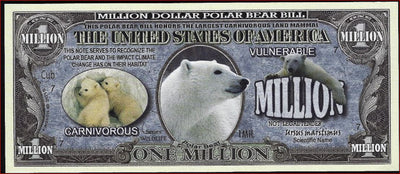 POLAR BEARS Fantasy Note 💶🐻 One Million POLAR BEARS 🐻💶 Wildlife Series - Busy Bee Emporium