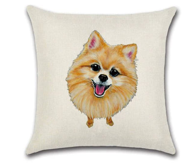 🐶POMERANIAN PILLOW COVER, Package:1 PCS Cushion Cover🐶
