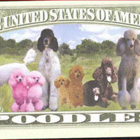 POODLES 🐩🐩🐕🐶 Million Note 💴🐶🐕 Fantasy Note - Busy Bee Emporium