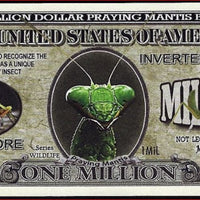 PRAYING MANTIS 🐛 Fantasy Note 💶🐛 One Million 🐜 PRAYING MANTIS 🐛💶 Wildlife Series - Busy Bee Emporium