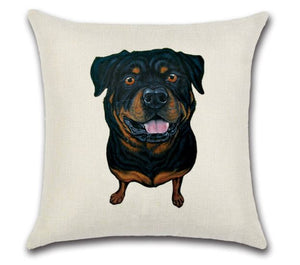 🐶ROTTWEILER PILLOW COVER, Package:1 PCS Cushion Cover - Busy Bee Emporium
