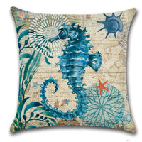 🌊SEA CREATURES PILLOW COVER - Package:1 PCS Cushion Cover 🌊 - Busy Bee Emporium