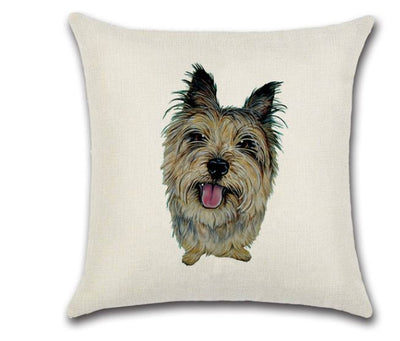 🐶 YORKSHIRE TERRIER PILLOW COVER, Package:1 PCS Cushion Cover