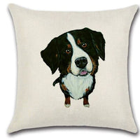 🐶 BERNESE MOUNTAIN DOG PILLOW COVER, Package:1 PCS Cushion Cover🐶 - Busy Bee Emporium