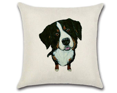 🐶 BERNESE MOUNTAIN DOG PILLOW COVER, Package:1 PCS Cushion Cover🐶