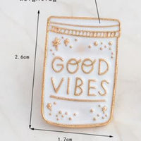 GOOD VIBES PIN 👋🏼 - Busy Bee Emporium