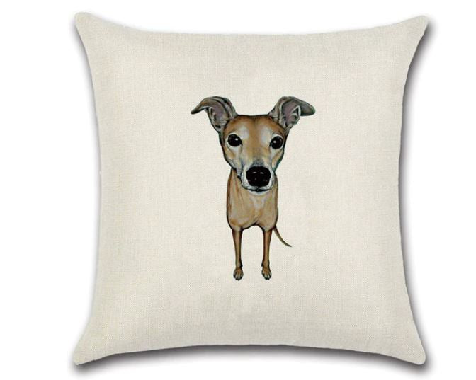 🐶 WHIPPET DOG PILLOW COVER, Package:1 PCS Cushion Cover🐶