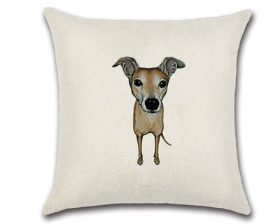 🐶 WHIPPET DOG PILLOW COVER, Package:1 PCS Cushion Cover🐶 - Busy Bee Emporium