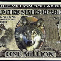 WOLF 🐺 Fantasy Note 💶🐺 One Million 🐺🐺 WOLVES 🐺💶 Wildlife Series - Busy Bee Emporium