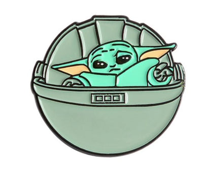 BABY YODA IN SHIP PIN  🌟 - Busy Bee Emporium