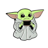 BABY YODA WITH MUG PIN  🌟 - Busy Bee Emporium