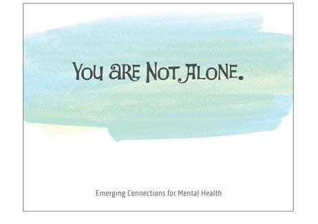 YOU ARE NOT ALONE Notecard (139mm x 107mm)