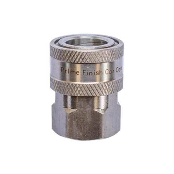 "BSP 3/8"" Female Stainless Quick Disconnect Coupler - Prime Finish Car Care"