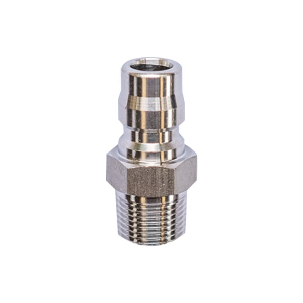 "BSP 3/8"" Male Stainless Quick Disconnect Plug - Prime Finish Car Care"