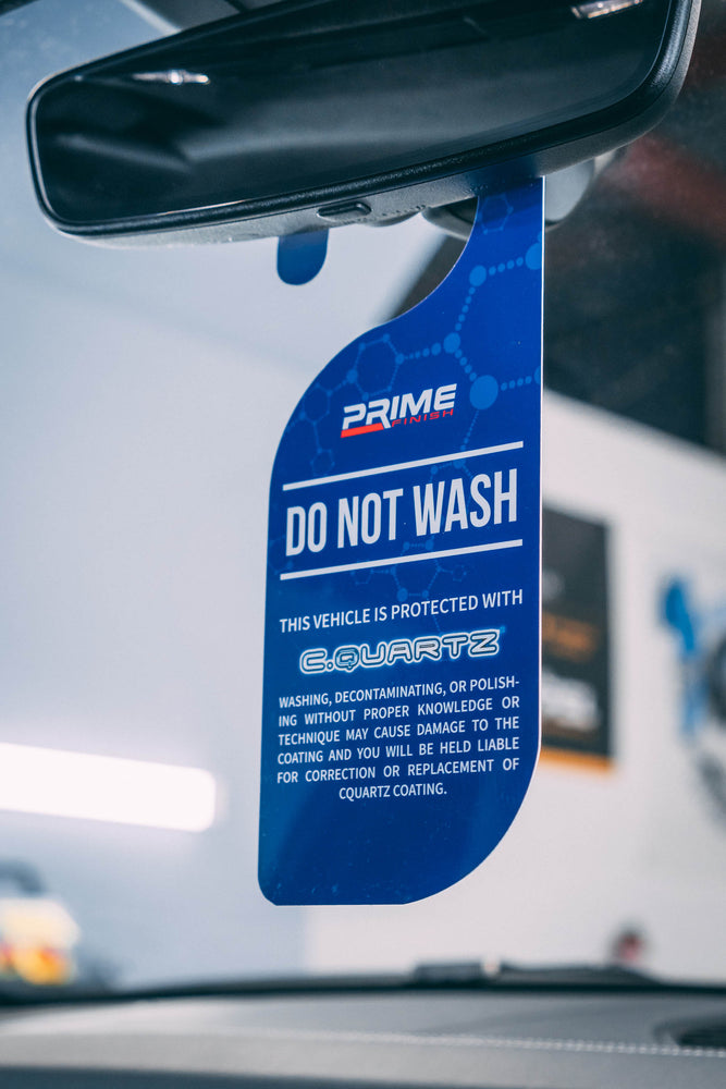 Do Not Wash PVC Hanger - Prime Finish Car Care