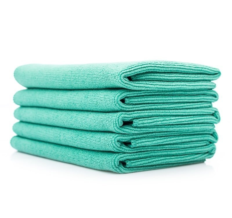 The Rag Company - THE PEARL Green Microfiber Ceramic Coating Towel - Prime Finish Car Care