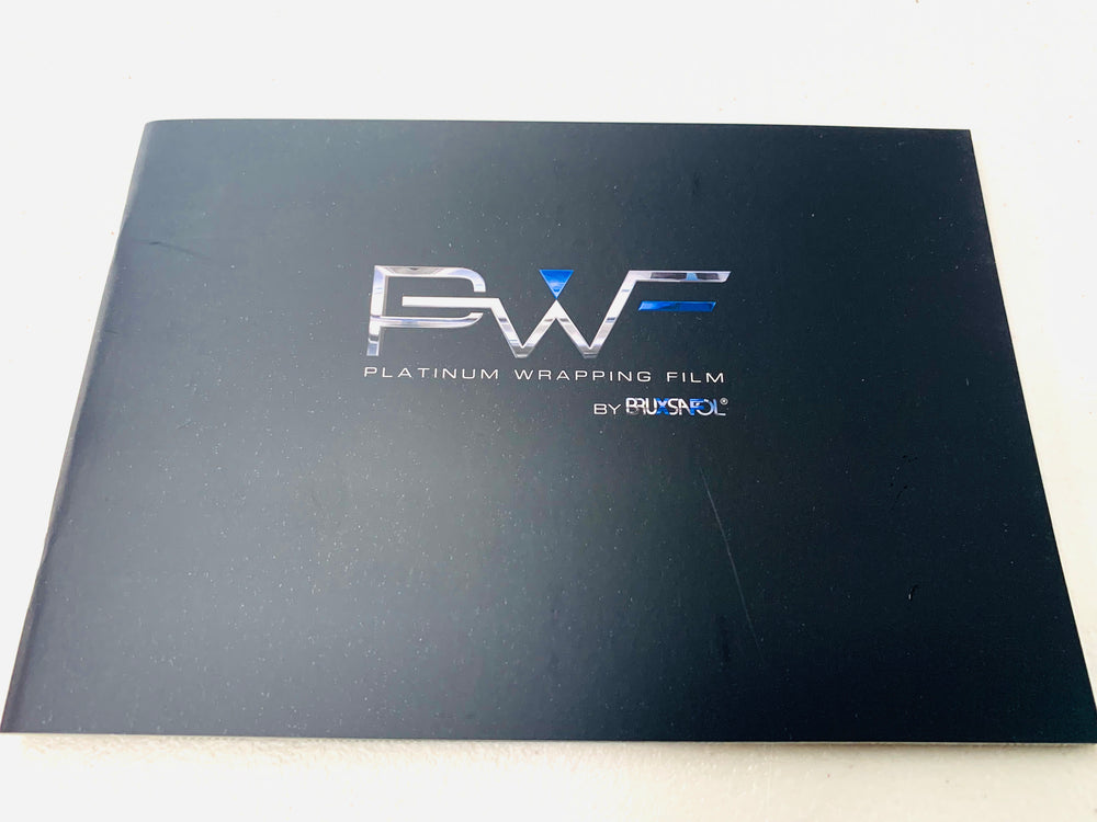 Platinum Wrapping Film (PWF) Color Swatch Book - Prime Finish Car Care