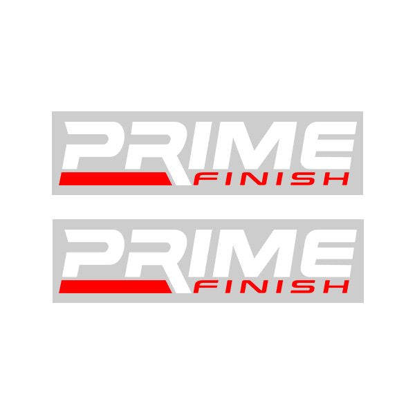Prime Finish Logo Decal Sticker X2