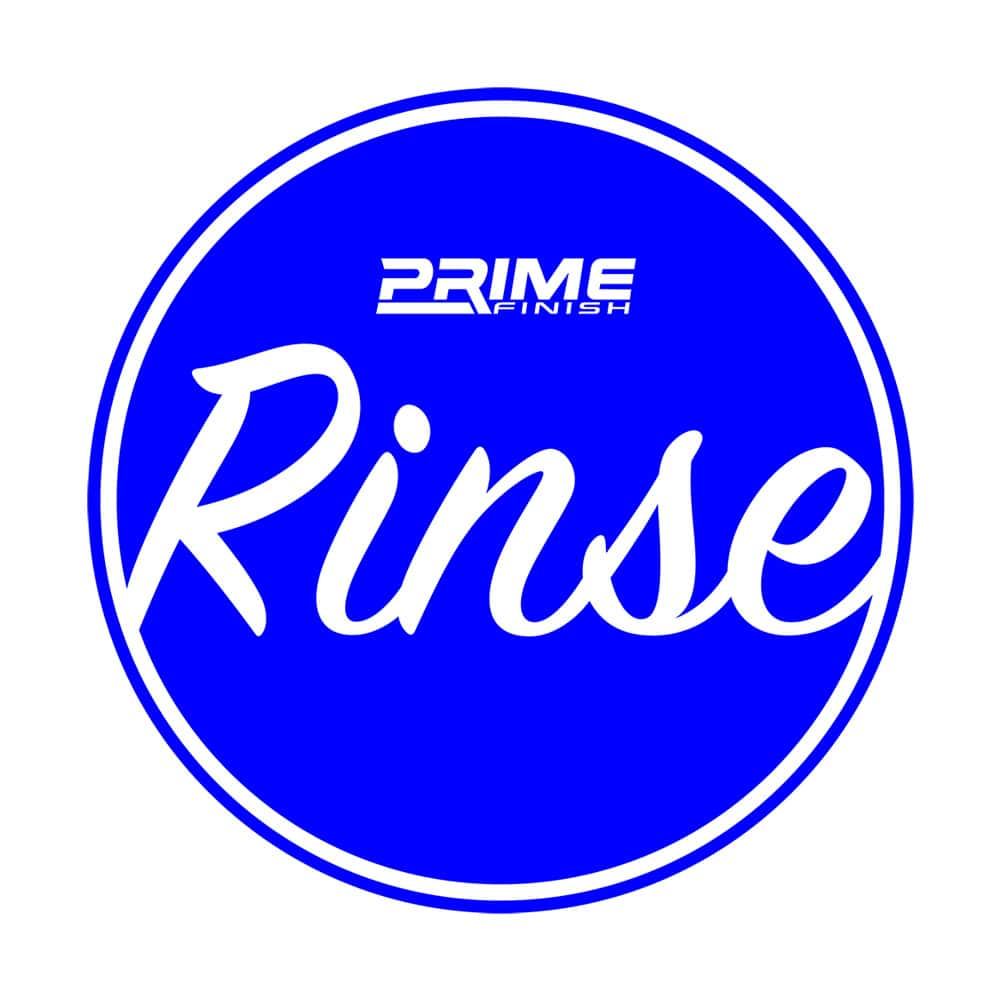 Rinse Bucket Water Proof Vinyl Sticker - Blue - Prime Finish Car Care