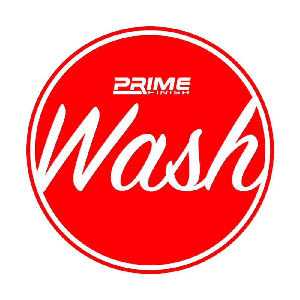 Wash Bucket Water Proof Vinyl Sticker - Red