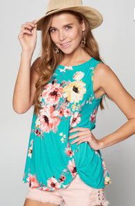 Feel the Spring Sleeveless Floral Top