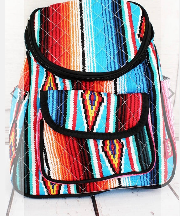 Quilted Serape Backpack