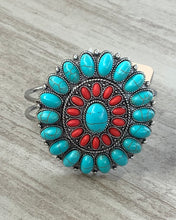 Load image into Gallery viewer, Cute Turquoise and Red Coral Bracelet